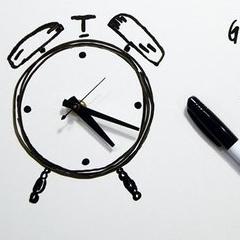 Photo : Horloge tableau effaçable