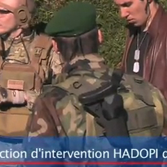 Brigade intervention HADOPI Zone Interdite