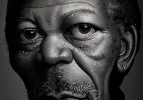Morgan Freeman par Tiago Hoisel