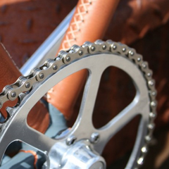 Photo : Vélo de luxe finitions cuir