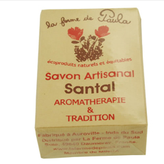 Savon Indien natural Santal