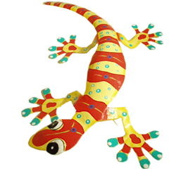 Photo : Gecko métal recyclé
