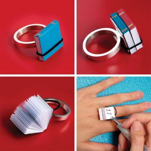 Photo book ring livre bague ana caradim