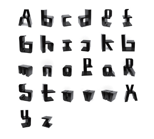 Photo chaises alphabet