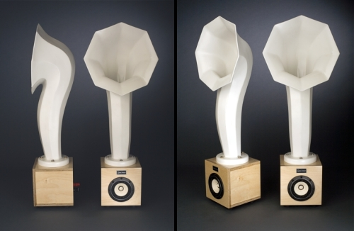photos des hauts parleurs Little Horn Speakers