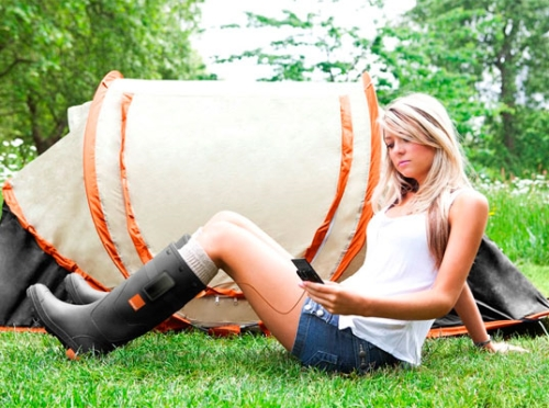 photo des bottes Orange Power Wellies