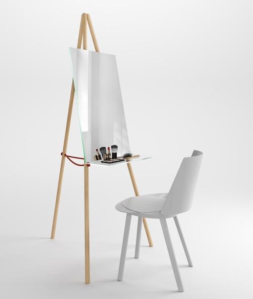 Un miroir pos sur un chevalet l 39 id e d co de viktor pucsek for Accessoire maison design