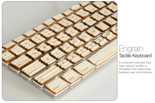 photo du clavier tactile Engrain en bois