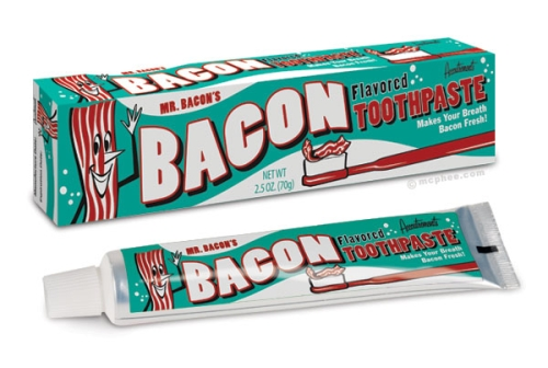 photo du dentifrice au goût bacon