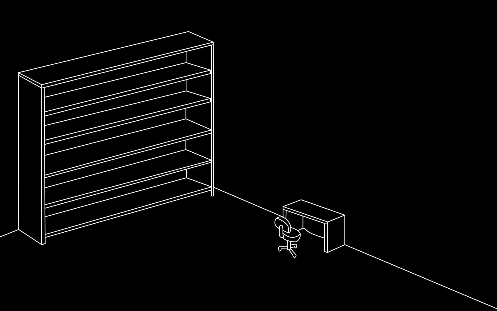 comment ranger son bureau windows sur une tag re pardi. Black Bedroom Furniture Sets. Home Design Ideas