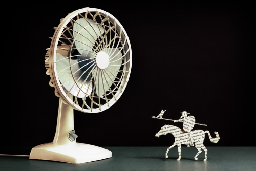 Don Quichotte et le ventilateur