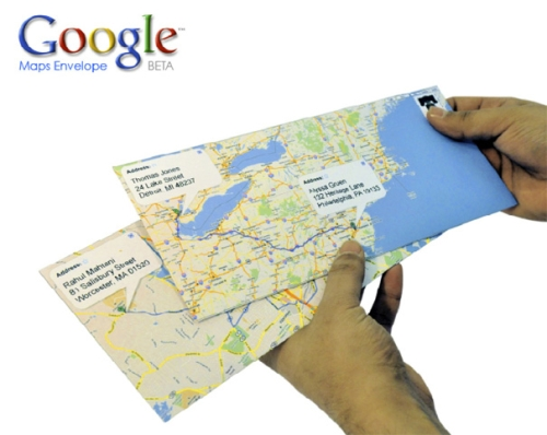 Google Maps Envelopes : démo