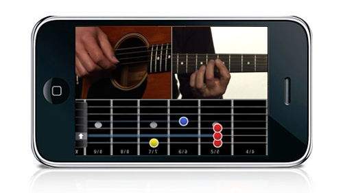 CoachGuitar sur iPhone