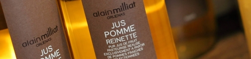Photo des jus de pommes Alain Milliat