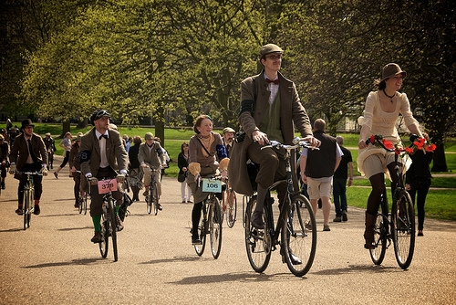 photo de la course du Tweed Run à Londres