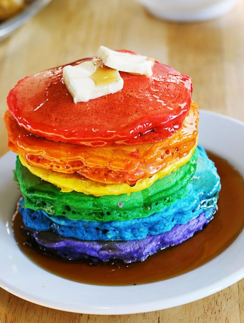 photo Pancakes arc-en-ciel