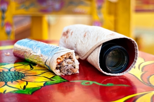 photo : le Photorito en mode burrito !