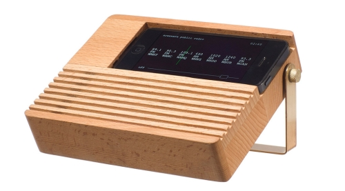 Photo du Radio Dock en bois pour iPhone