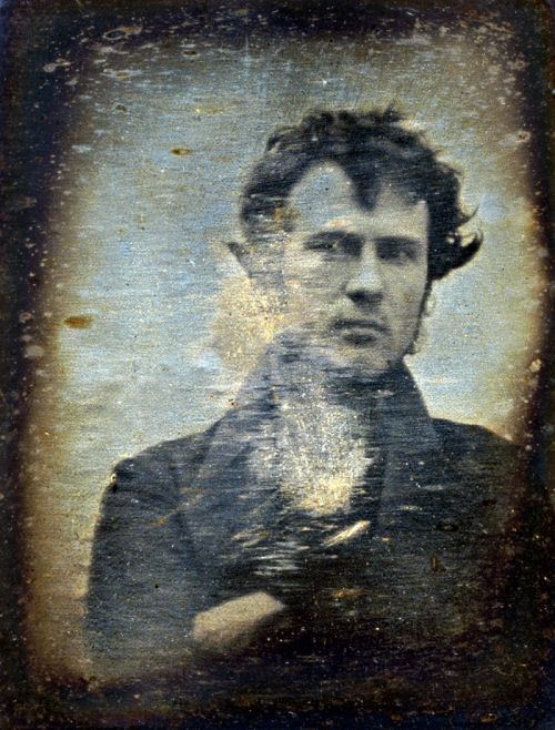 Photo de Robert Cornelius en mode selfie