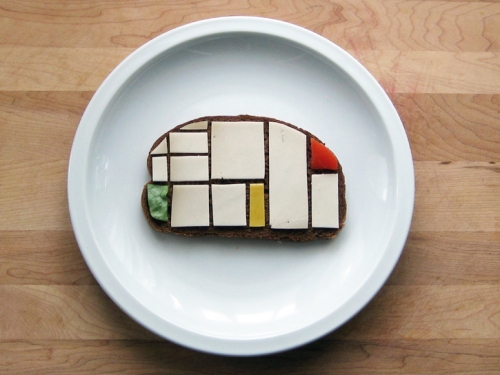 photo du sandwich façon Mondrian par Brittany Powell