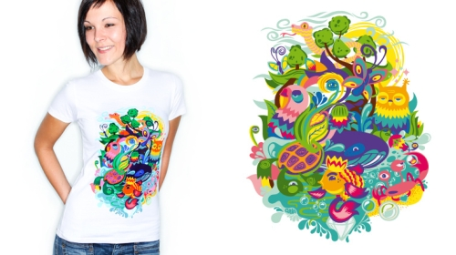 photo et visuel du T-shirt Beauty Nature