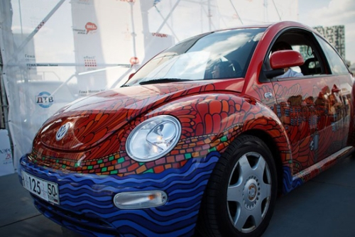 photo : carrosserie de la VW Beetle aerography
